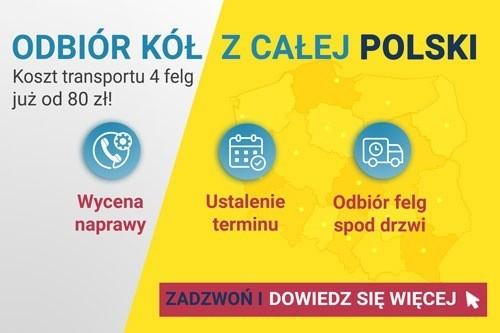 Odbierzemy Twoje felgi do regeneracji. Odbiór felg z całej Polski - zamów transport już dzisiaj!