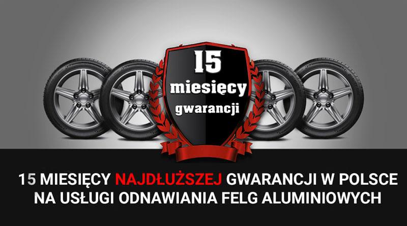 Najdłuższa gwarancja w Polsce na usługi renowacji felg
