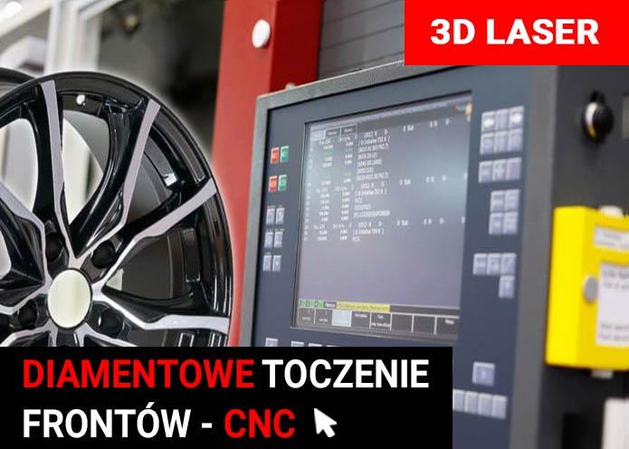Diamentowe toczenie frontów CNC laser 3D