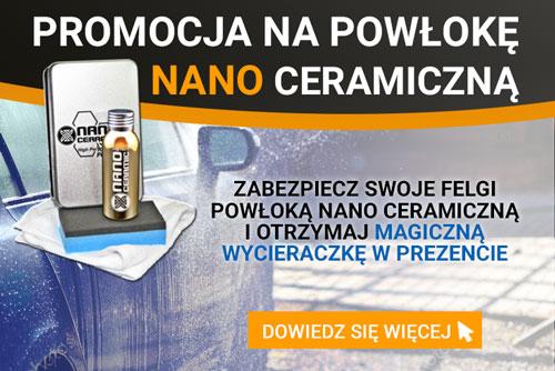 promocja na powłokę nano ceramiczną - zabezpiecz swoje felgi powłoką nano ceramiczną i otrzymaj magiczną wycieraczkę gratis